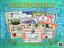 Stock Certificate Calendar Cover