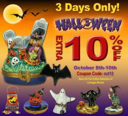 Halloween Extra 10% Sale on French Limoges Boxes at LimogesBoxCollector.com