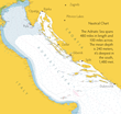 Cruise Croatia, nautical chart of the Adriatic Sea