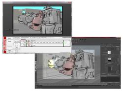 Image showing the automatic conversion from Redboard to Autodesk's Maya