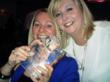 Payzone team members Caroline Dyson and Karen Murray receiving their award from Elavon