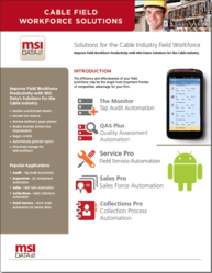 Mobile Field Management Software for Cable by MSI Data