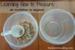 teaching how to measure
