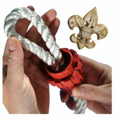 Super Rope Cinch being used at BSA Jamboree in 2013 to tie tents and boats