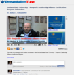 A video presentation with scrollable slide thumbnails,