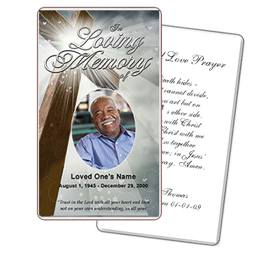 funeral template superstore company offers new line of printable prayer card templates. Black Bedroom Furniture Sets. Home Design Ideas