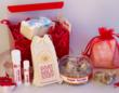 Goat Milk Stuff's Red Gift Box has heart-shaped sugar scrubs to gently exfoliate, goat milk soap, lotion, lip balm & bath fizzy.