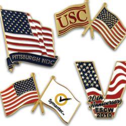 American Flag Custom Pins