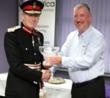 Image supplied showing Peter Field, Lord Lieutenant for East Sussex (left) presenting Mark Johnson, Managing Director of Scientifica with the companys Queens Award for Enterprise