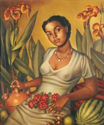 Enrique Grau Araújo (Panamá 1920 – Bogotá 2004), La mulata cartagenera, 1940, Oil on canvas 71 x 60.8 cm, Collection of the Museo Nacional de Colombia