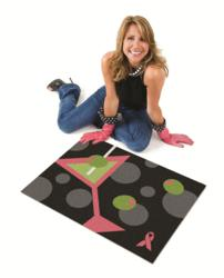 The Accidental Housewife, Julie Edelman, with her signature mat.