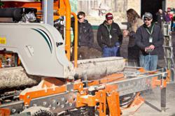 LumberMate Pro MX34 hydraulic portable sawmill