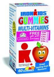 Look for the Free Gift with Purchase label on IronKids Multi