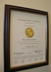 Sovereign Health Group is Accredited by The Joint Commission