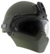 The complete Batlskin Modular Head Protection System with the Batlskin Cobra helmet shell.