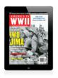The cover of AMERICA IN WWII's April 2012 issue on an iPad.