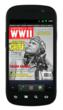 Tuskegee Airmen commander Benjamin O. Davis, Jr., appears on the February 2012 cover of AMERICA IN WWII magazine, seen on an Android device.