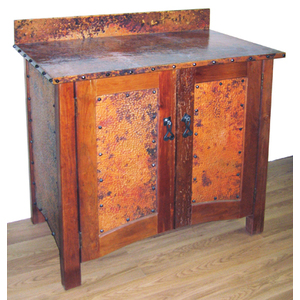 Copper Bathroom Vanities And Copper Sinks For A Rustic