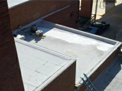 Quick-Slope™ redirects or disperses standing water on modified bitumen roofing photo
