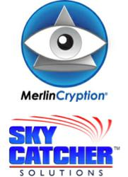 MerlinCryption and SkyCatcher join forces logo