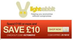 Voucher Code OCTOBER10 from Light Rabbit