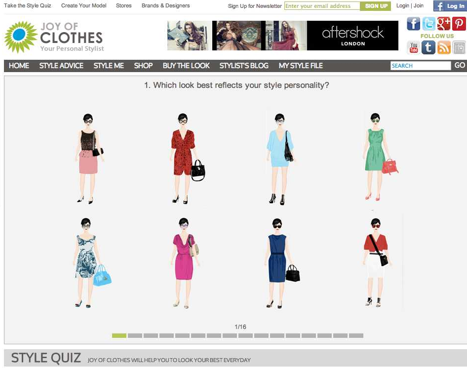 joy of clothes introduce new and free fashion style quiz to help
