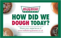 Krispy Kreme customer feedback card
