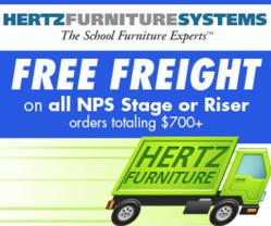 Free freight on NPS Stage/Riser Orders Over $700