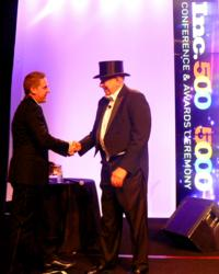 Founder and President Kevin Lowe accepting the award.