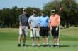 Foursomes playing in the 2012 AUSA Wounded Warrior Golf Classic