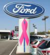 Smail Ford Sign with Pink Ribbon