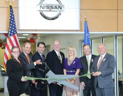 Gov. Scott Walker attends a ribbon cutting ceremony for Russ Darrow Nissan located on the northwest side of Milwaukee