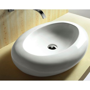 Bathroom White Vessel Sink Caracalla Ca4257