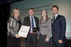 Plumbs Win North West BAE Systems Large Employer of the Year Award