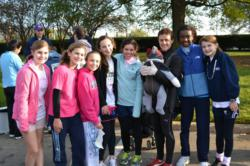 Garrison Forest students and teacher after 2011 Race for the Cure