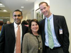 ONS Foundation President Paul Sethi, MD, Vice President Vicki Leeds Tannanbaum and Conference Chairman Frank Ennis, MD at the 2011 ONS Foundation Medical Conference