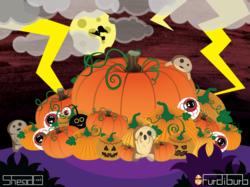 Halloween in Furdiburb the virtual pet