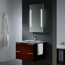 Backlighted Mirror And Wall Mounted Vanity From Vigo Industries