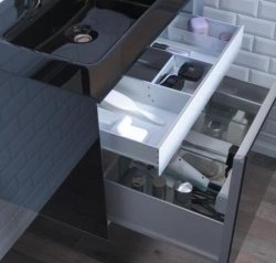 Robern Slim Drawer Insert Robern Single Drawer Deep Bathroom ...