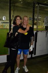 Glenelg MMA fighter Jon Delbrugge and his wife.