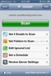 Unlistr's account setting options on the iPhone 4S