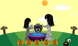 Star Sisters Statue in Furdiburb the virtual pet