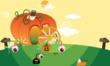 Pumpkin Chariot house in Furdiburb the virtual pet
