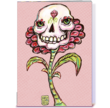 Card Gnome Halloween Card, Skull Flower