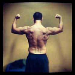 Scott Tischler's back after a workout, Scott Tischler after a workout