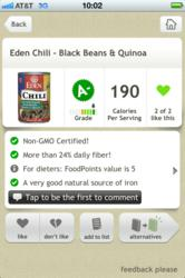Fooducate Screenshot - Non GMO Certified