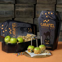 Orchard Fresh Granny Smith Apples, Caramel, and Mini Candies for Halloween