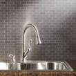 Metal Tile kitchen backsplash