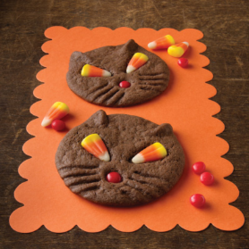 Black Cat Halloween Cookies