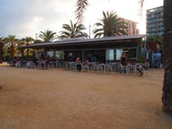 Conergy grid parity roof top installation, organic beach restaurant, Barcelona, Spain, 8kW